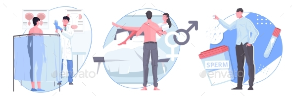 Man Sexual Health Flat Compositions
