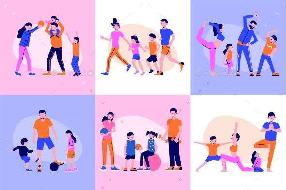 Family Fitness Design Concept