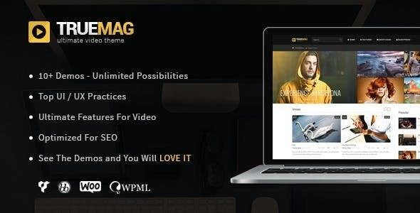 True Mag – WordPress Theme for Video and Magazine, Gobase64