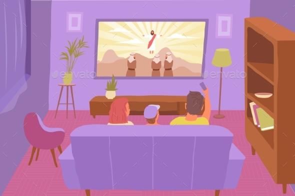 TV Religion Flat Composition