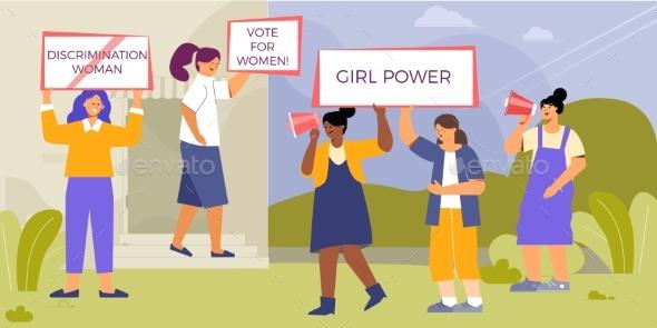 Female Power Activism Composition