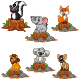 Wild Animals Cartoon Collection - GraphicRiver Item for Sale
