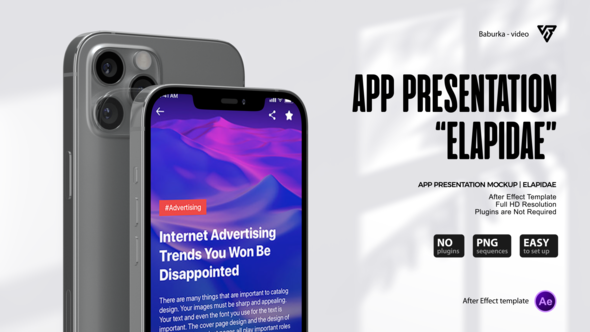 App Presentation Mockup | Elapidae