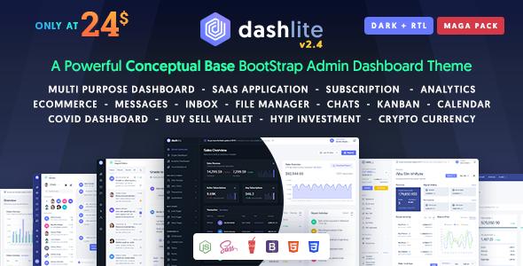 DashLite – Bootstrap Responsive Admin Dashboard Template
