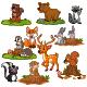 Set of Cartoon Woodland Animals - GraphicRiver Item for Sale