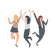 Group of Happy Women Jumping for Joy - GraphicRiver Item for Sale