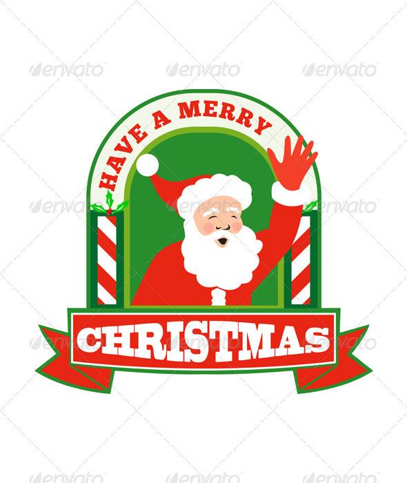 Santa Claus Father Christmas Retro