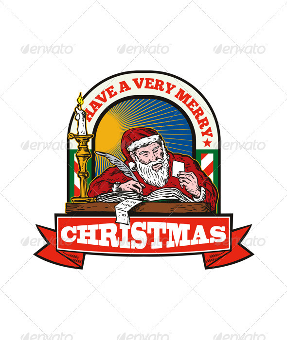 Santa Claus Father Christmas Writing Letter