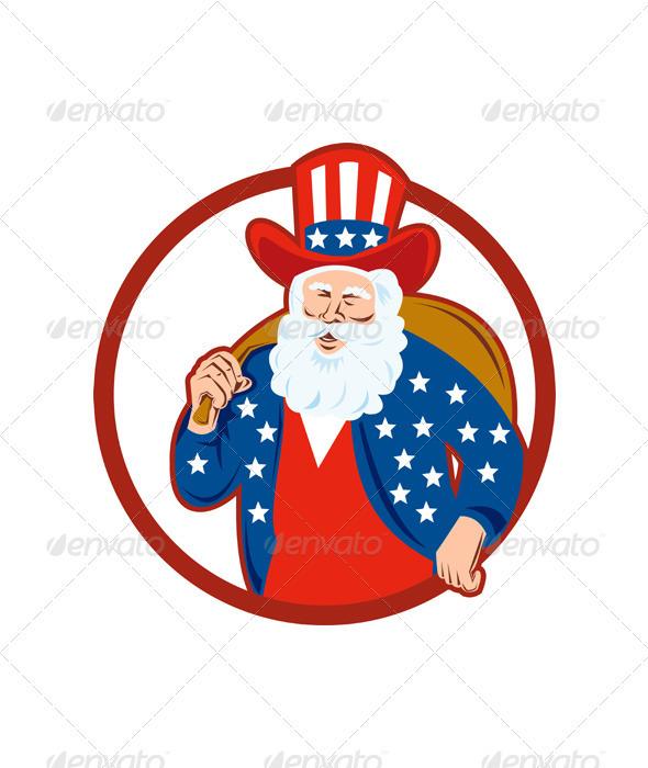 American Father Christmas Santa Claus