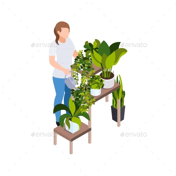Stay Home Gardening Composition