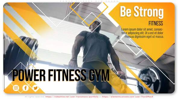 Power Fitness Gym Promo