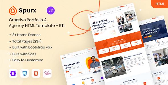 Spurx - Agency & Portfolio HTML Template