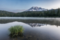 Reflection of Mount Rainier in Reflection Lake in Mount Rainier national park at dawn. - PhotoDune Item for Sale