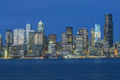 Seattle skyline, from Puget Sound, downtown buildings  at night. - PhotoDune Item for Sale