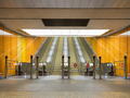 Budapest Metro, empty open space, escalators and barriers - PhotoDune Item for Sale