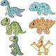 Set of Six Cute Doll Dinosaurs Character - GraphicRiver Item for Sale