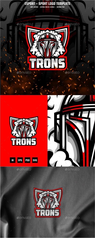 Trons E-sport and Sport Logo Template