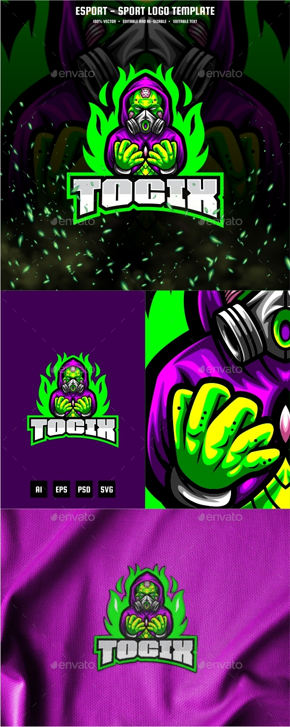Toxic E-sport and Sport Logo Template