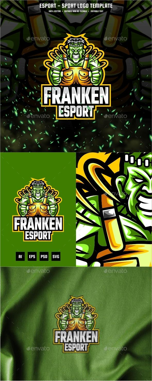 Frankenstein E-sport and Sport Logo Template