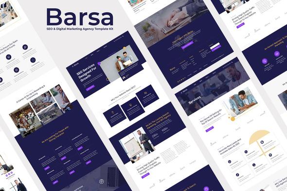 Barsa – SEO & Digital Marketing Agency Template Kit, Gobase64