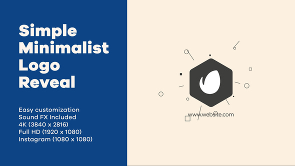Simple Minimalist Logo Reveal