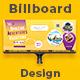Travel Agency Billboard Signage Design - GraphicRiver Item for Sale