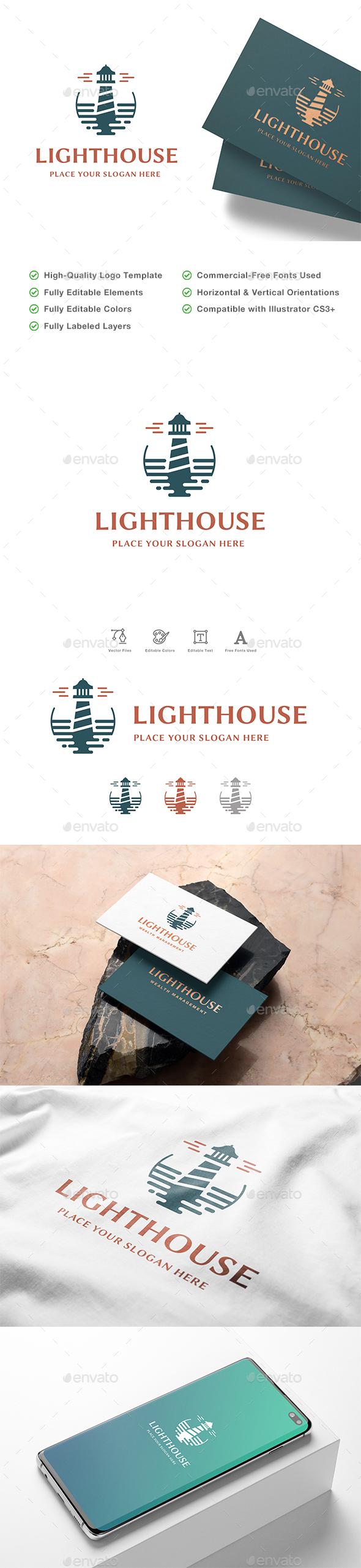 Modern Lighthouse Logo