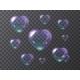 Set of Purple Soap Bubbles Hearts - GraphicRiver Item for Sale