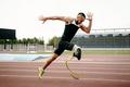 disabled male runner on prosthetic leg - PhotoDune Item for Sale