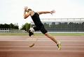 disabled athlete runner on prosthetic leg - PhotoDune Item for Sale