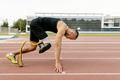 start disabled runner on prosthetic leg - PhotoDune Item for Sale