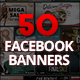 50 Facebook Banners - GraphicRiver Item for Sale