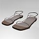 Square-Toe T-Strap Flat Sandals 01 - 3DOcean Item for Sale