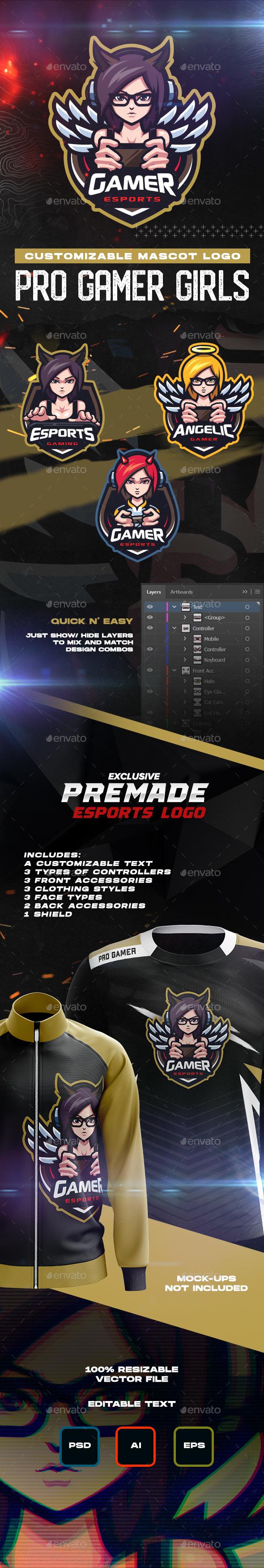 Pro Gamer GIrls Logo