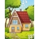 House With Garden - GraphicRiver Item for Sale