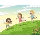 Three Running Children - GraphicRiver Item for Sale