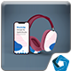 Headphones & Phone Mockup - GraphicRiver Item for Sale