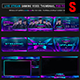 Cyber Players Live Stream Gaming Video Thumbnail / Banner Overlay Photoshop Templates - GraphicRiver Item for Sale
