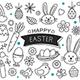 Happy Easter Elements Design - GraphicRiver Item for Sale