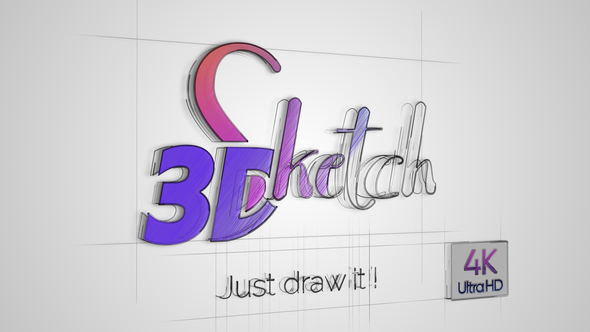 3D Sketch logo reveal