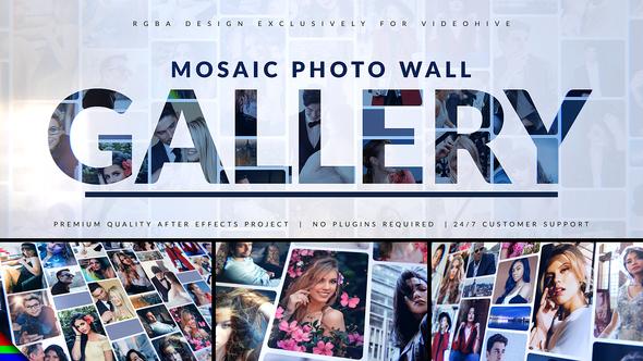 Mosaic Photo Gallery   Logo Reveal