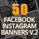 50 Facebook Instagram Banners #2 - GraphicRiver Item for Sale
