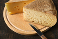 Wooden board with aged cheese - PhotoDune Item for Sale