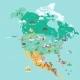 North America Map - GraphicRiver Item for Sale