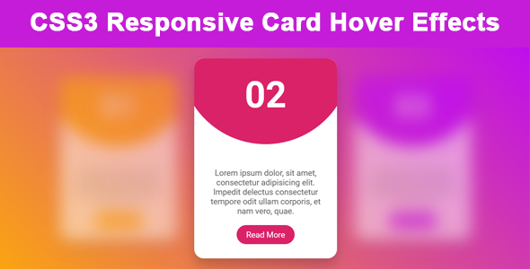 CSS3 Responsive Card Hover Effects