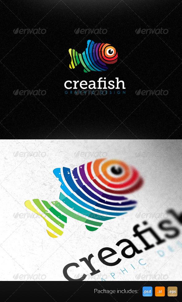 Creative Fish Graphic Design Studio Bright Logo