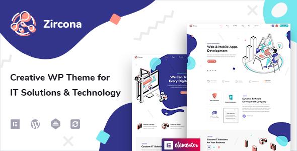 Zircona - IT Solutions & Technology WordPress Theme