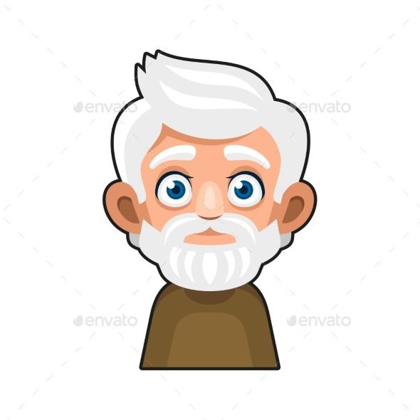 Old Man Cartoon Icon