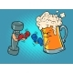 Beer Mug and Dumbbell Box - GraphicRiver Item for Sale