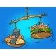 Weighing Dumbbell Scales and Burger - GraphicRiver Item for Sale